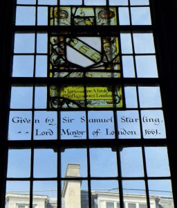 Starling window at All Hallows